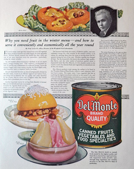 1921 Del Monte Canned Fruit Ad