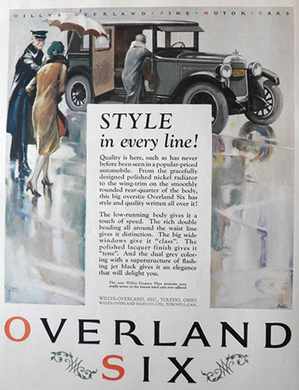 1926 Willys Overland Six Ad ~ Walter Seaton
