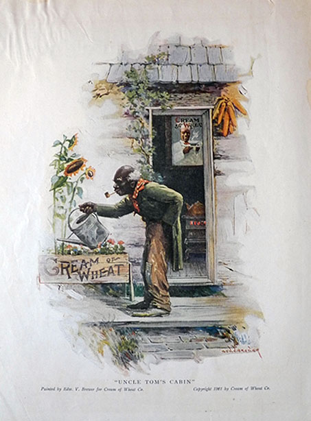 1921 cream of wheat ad uncle tom 39 s cabin vintage cream for Tom s cabin