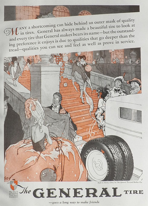 1928 General Tires Ad ~ Costume Ball