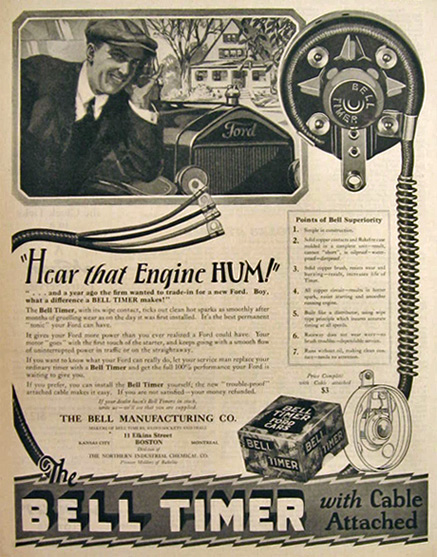 1925 Ford Bell Timer Ad