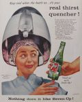 1956 Seven-Up 7-Up Ad ~ Lady Under Hair Dryer