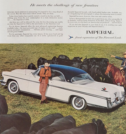 1956 Chrysler Imperial Ad ~ Cattle Ranchers