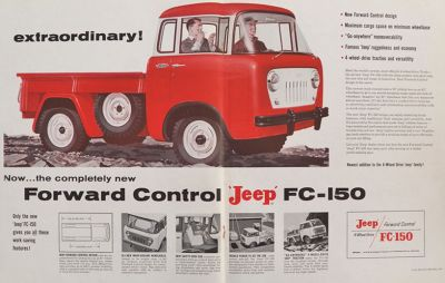 1956 Jeep FC-150 Ad~ Two Pages