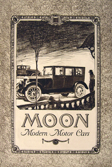 1919 Moon Motor Car ~ Two Sided Ad