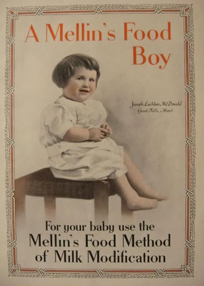 1914 Mellins Baby Food Ad ~ Joseph Lachlan McDonald, Great Falls MT