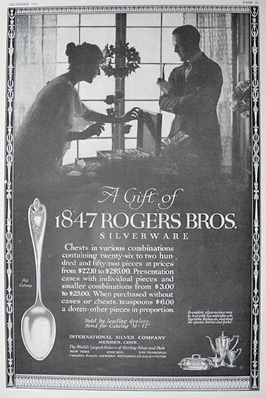 1917 Rogers Bros  Silverware Ad ~ Old Colony