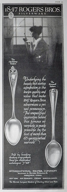 1916 Rogers Bros Silverware Ad ~ Old Colony & Cromwell