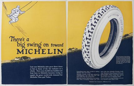 1925 Michelin Tires Ad ~ Big Swing