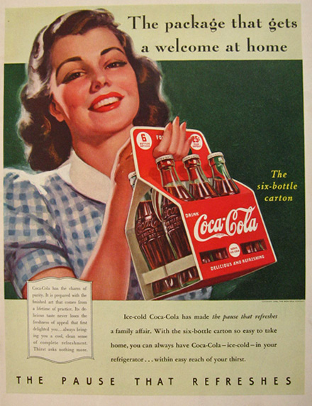 1940 Coca Cola Coke Ad ~ A Welcome Package
