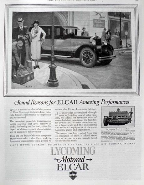 1926 Lycoming Motored Elcar Ad