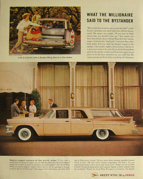 1958 Dodge Swept Wing Sierra Ad