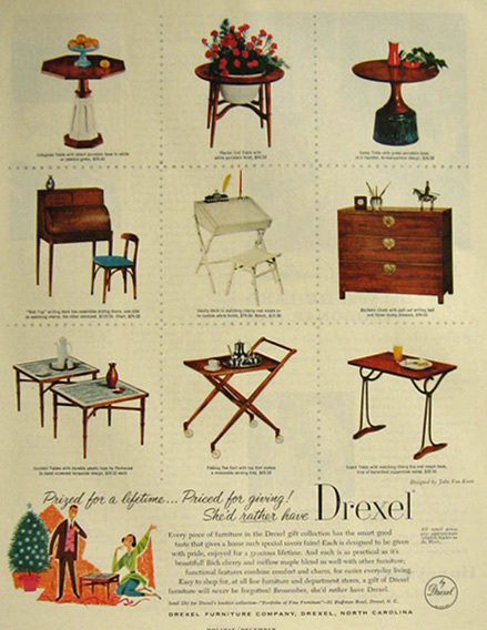 1957 Drexel Furniture Ad ~ Gift Collection - 1957 Drexel Furniture Ad ~ Gift Collection, Vintage Household Ads