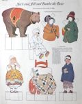 1923 Jack & Jill & Bumbo the Bear Paper Dolls