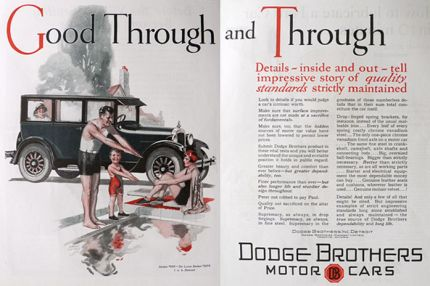 1926 Dodge Deluxe Sedan Ad ~ Good Through & Through