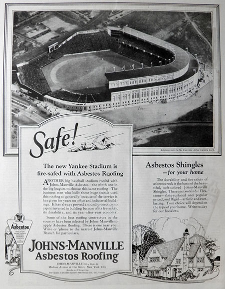 1923 Johns Manville Asbestos Roofing Ad Aerial Photo