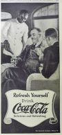 1924 Coca Cola Coke Ad ~ Waiter Serves Men