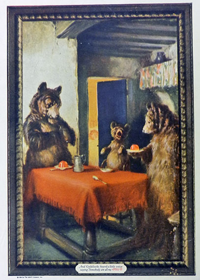 1925 Vintage Jello Ad ~ Three Bears From Goldilocks