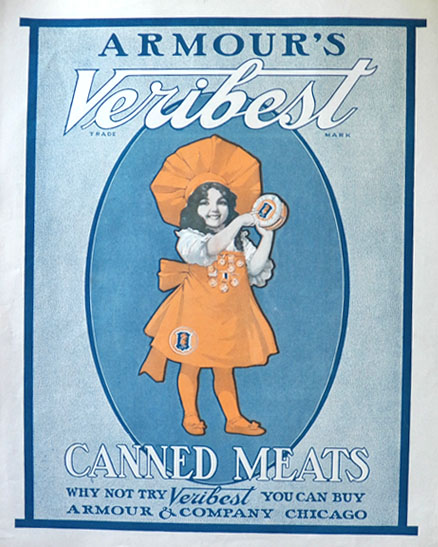 1903 Armour's Veribest Canned Meats Ad