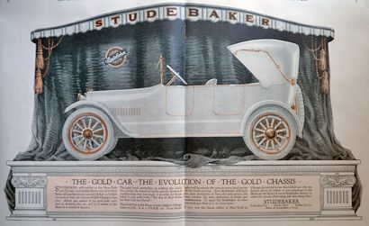 1916 Studebaker Gold Car Ad ~ Gold Chassis