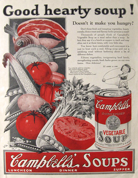 1925 Campbell's Vegetable Soup Ad
