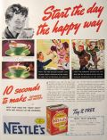 1939 Nestles Cocoa Ad ~ Start the Day the Happy Way