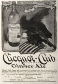1909 Clicquot Club Ginger Ale Ad ~ American Eagle