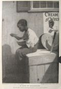 1909 Cream of Wheat Ad ~ African American Boy Ignores Watermelon