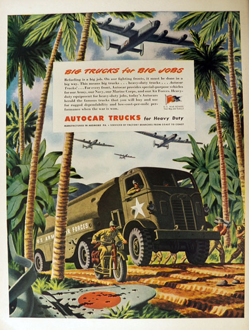 1944 Autocar Military Truck Ad ~ Army Truck