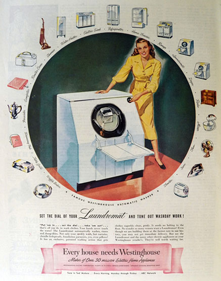 1947 Westinghouse Automatic Washing Machine Ad Set The Dial