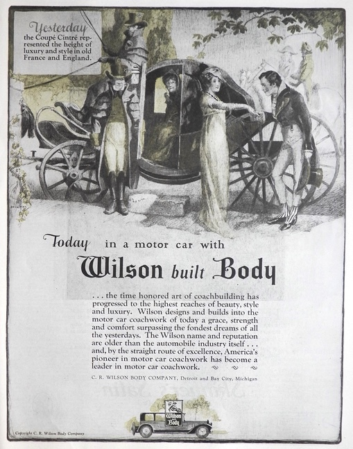 1924 Wilson Built Automobile Body Ad