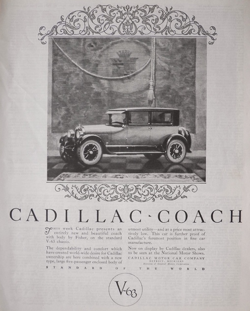 1924 Cadillac Coach Ad ~ Dependability & Comfort