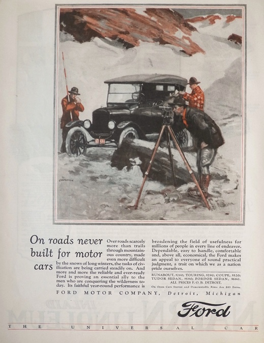1925 Ford Car Ad ~ Land Surveyor