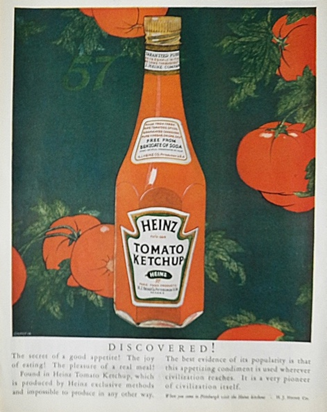 1925 Heinz Ketchup Ad ~ Discovered!