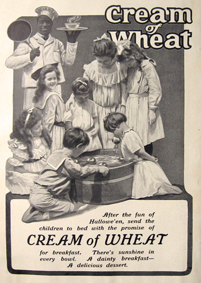 1904 Cream of Wheat Ad ~ Bobbing For Apples