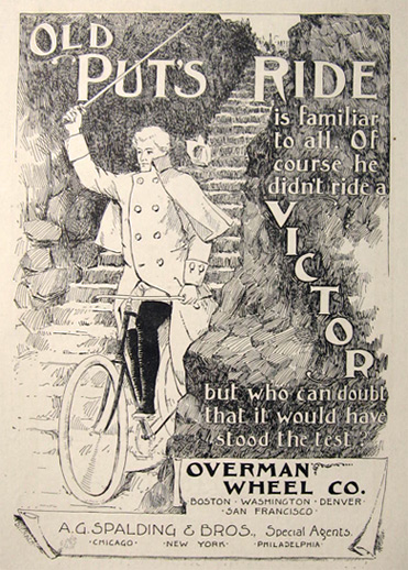 1893 Victor Bicycle Overman Wheel Co. Ad ~ Putnam's Ride
