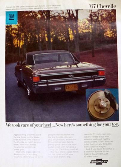 1967 Chevy Chevelle SS 396 Sport Coupe Ad