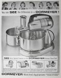 1957 Dormeyer Silver Chef Electric Mixer Ad