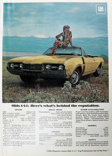 1968 Oldsmobile 442 Convertible Ad Vintage Car Ads Other