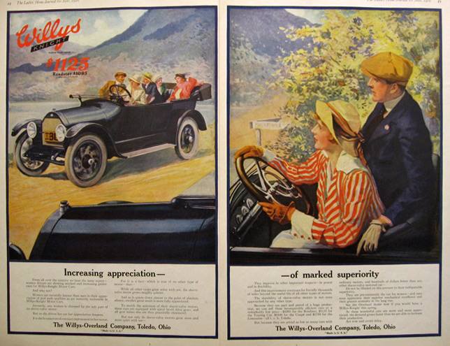 1916 Willys Knight Ad ~ Increasing Appreciation