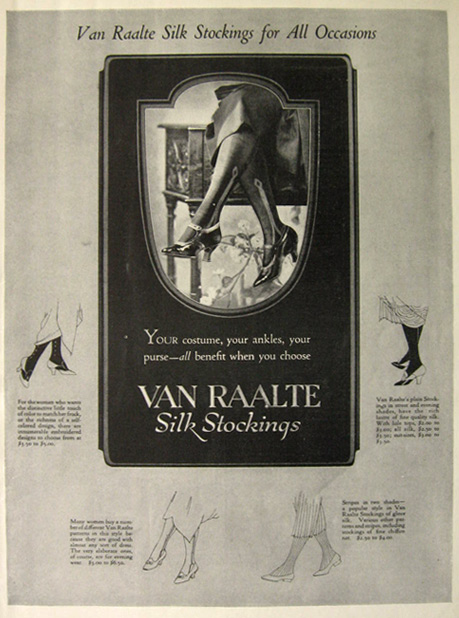 1923 Van Raalte Silk Stockings Ad