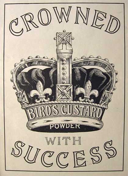 1901 Bird's Custard Powder Ad ~ Crowned with Success