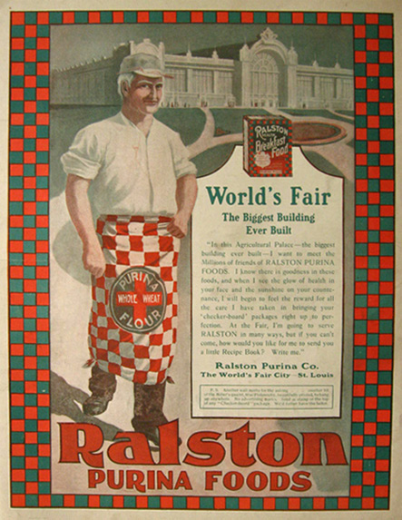 1904 Ralston Purina Foods Ad ~ S. Louis World's Fair