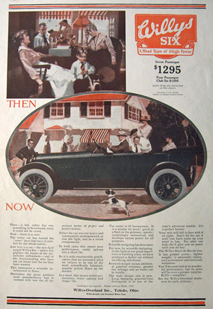 1917 Willys Six Ad ~ Then and Now