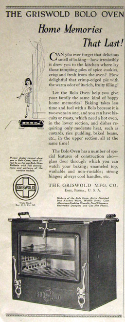 1921 Griswold Bolo Oven Ad