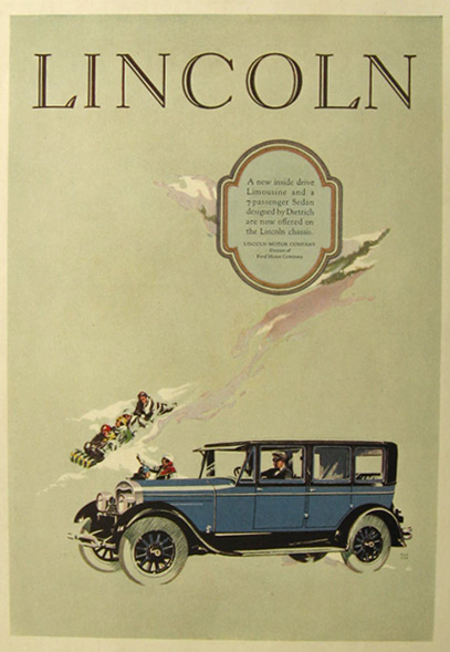 1926 Lincoln Motor Car Ad ~ Fred Cole Art