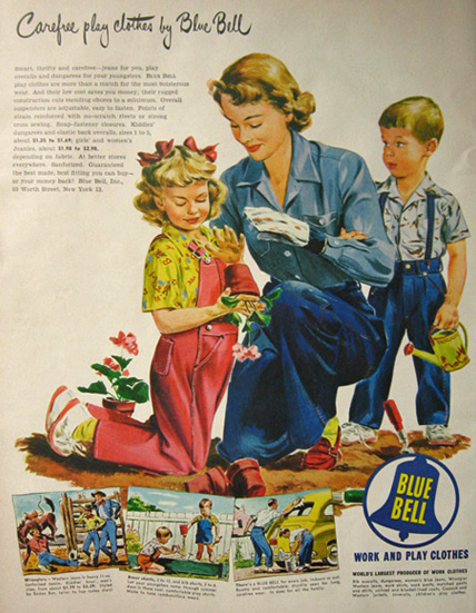 1949 Blue Bell Jeans Amp Overalls Ad Gardening With Mom