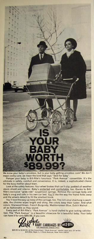 1966 Bilt-Rite Vintage Baby Carriage Ad
