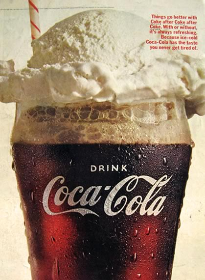 1966 Coca Cola Ad ~ Coke Float