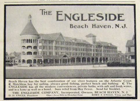 1907 Engleside Hotel Ad Beach Haven NJ